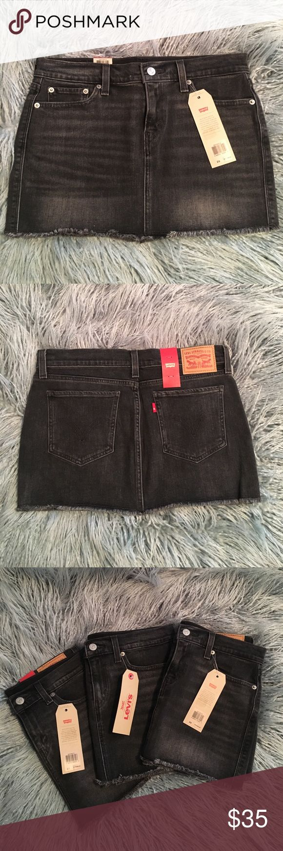 Levi's jean mini skirt. Black jean mini skirt. All brand new never worn with Tags. Levi's Jeans Skinny
