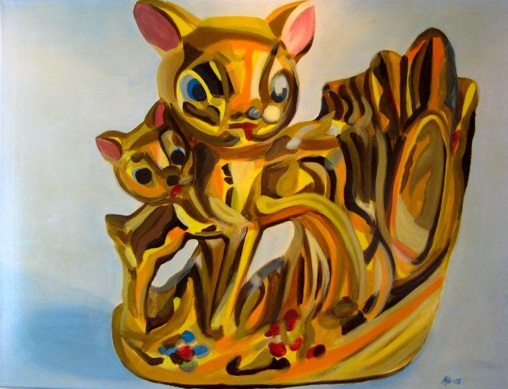 "#ElementEdenArtSearch ""Oh Deer""- Kaja Weum, 90cm * 120cm Acrylic on canvas www.kajaweum.com"