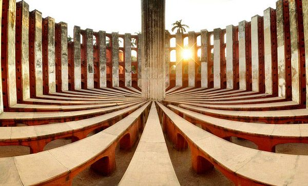 Jantar Mantar was built by Maharaja Jai Singh II in 1724. It was built to observe and compile astronomical tables which would be used to predict the times and movements of Sun, Moon and other planets. (Image source: Akash Banerjee)