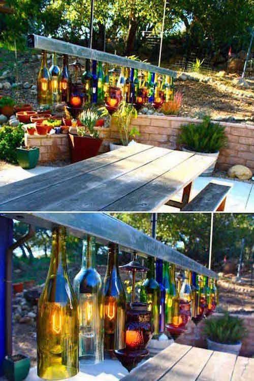29 Super Idées d\u0027Éclairage Pour le Jardin (Pas Chères Et Faciles à - faire une terrasse pas cher