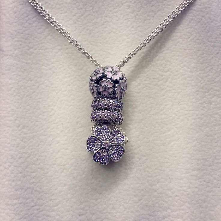 PANDORA Necklace with Pave Charms. PANDORA Jewelry http://xelx.bzcomedy.site…