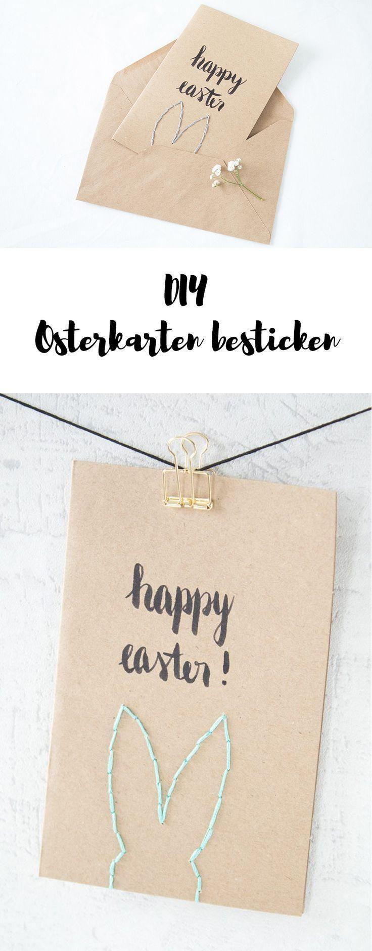 Osterkarten basteln – #basteln #Osterkarten – #basteln #Osterkarten –  – Osterka…