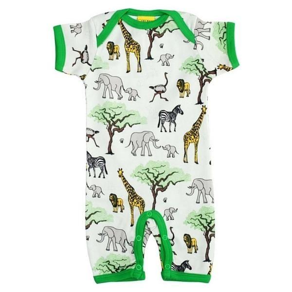 Beachbody, helles grün/beige mit Tieren aus der Savanne