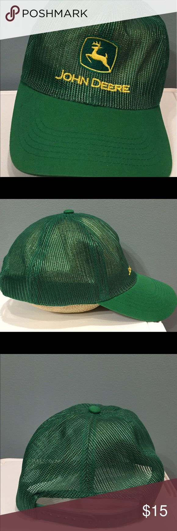 John Deere full mesh SnapBack hat John Deere full mesh SnapBack hat. One size fits all. Good condition. Just needs to be worn for a while to put the proper shape back in it. john deer Accessories Hats