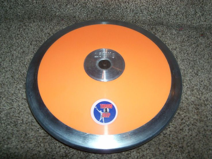 Track and Field 106981: Throw1deep Brand Orange Discus 1.6K Steel Rim 75% Rim Weight -> BUY IT NOW ONLY: $44.49 on eBay!