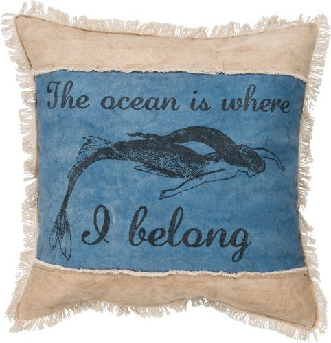 Ocean Is Where I Belong Canvas Pillow
