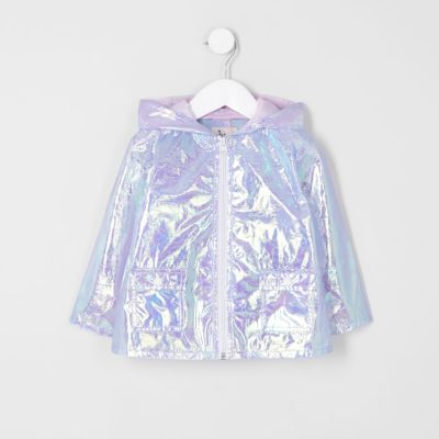 Mini girls purple iridescent rain coat - Baby Girls Coats & Jackets - Mini Girls - girls #babyraincoat