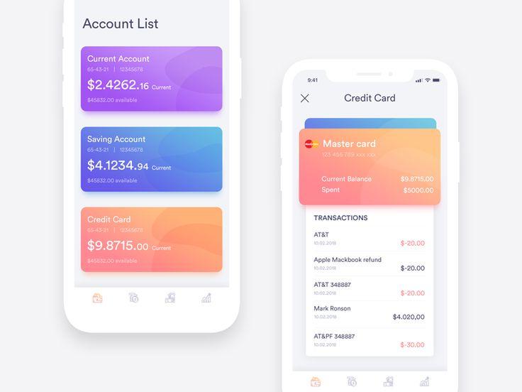 Bank Account Exploration design