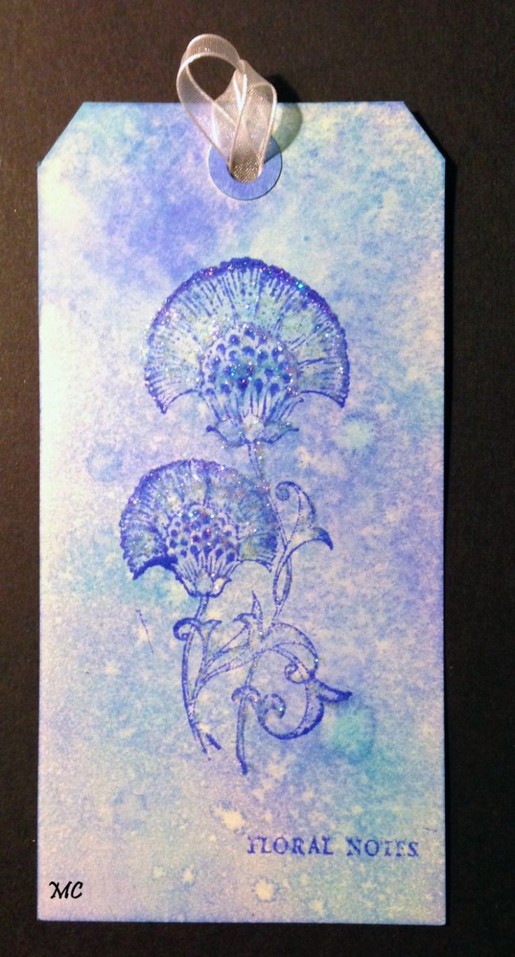 Chocolate Baroque - Floral Notes rubber stamp