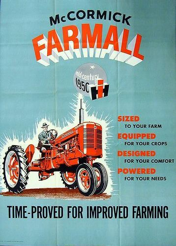 Farmall Tractor Advertising Poster | Advertising poster for … | Flickr