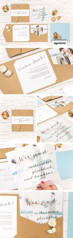 Cartões de agradecimento de bolso – prático e bonito