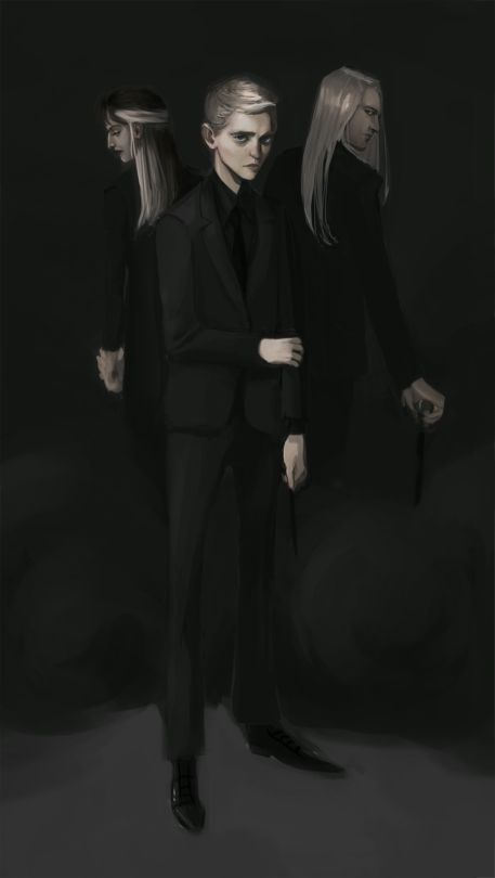 The Malfoys by artofelli. Pinned by @lilyriverside