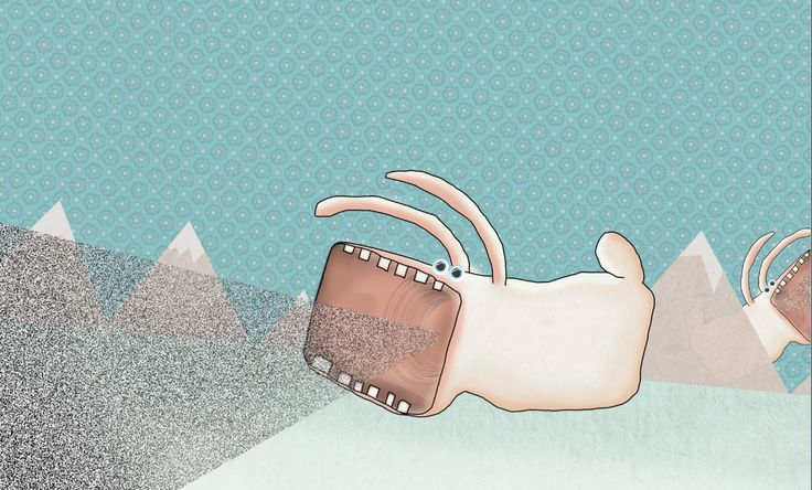 video-bunny. Illustration by EM Miljeteig