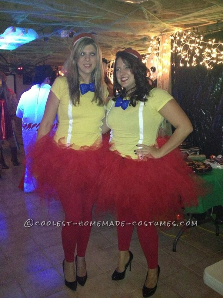 131 best alice in wonderland costume ideas images on pinterest easy homemade tweedle dum and tweedle dee halloween couple costumes homemade costumesdiy solutioingenieria Image collections