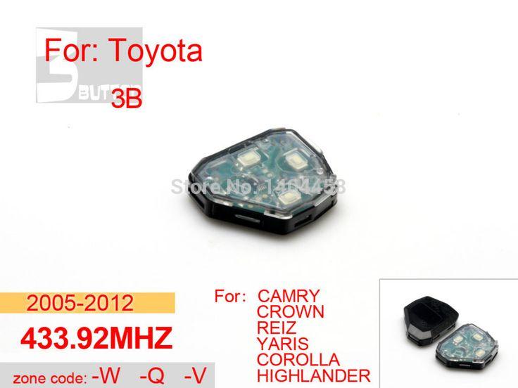 Toyota camry ключ замены, ключи от машины 2005-2012 433.92 МГЦ 3 кнопка WQV для toyota crown, автомобильная сигнализация, бесплатная доставка