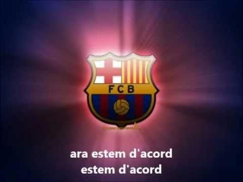 Himno del Barça Letra en catalán ('-')