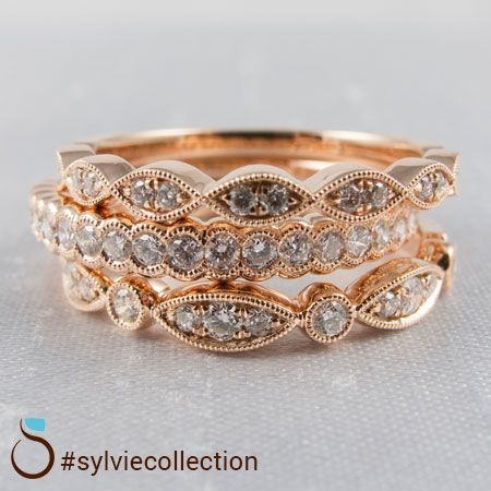 23 best wedding bands images on pinterest wedding bands promise stackable diamond wedding and fashion rings from sylvie junglespirit Images