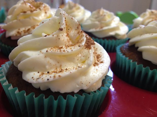 Picture of Pumpkin Spice Latte Cupcakes With Whipped Cream Frosting