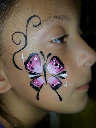 Butterfly face paint, Colorful Faces by avie - Face Painting in Redlands, California & Surrounding Cities, balloon twisting, balloontwisting, parties, party ideas, parties for boys, parties for girls, Colorful Faces by Avie, Colorful Faces and Balloons