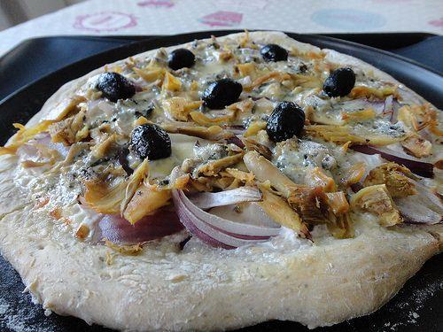 Pizza poulet, roquefort - Fourchettes et Pinceaux
