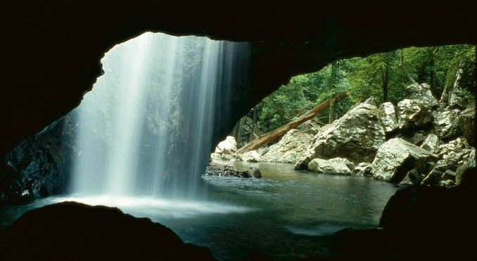 Natural Bridge @ Springbrook in the Gold Coast Hinterland, QLD. Gorgeous! The water is ALWAYS COLD! Wake you right up.. :-)