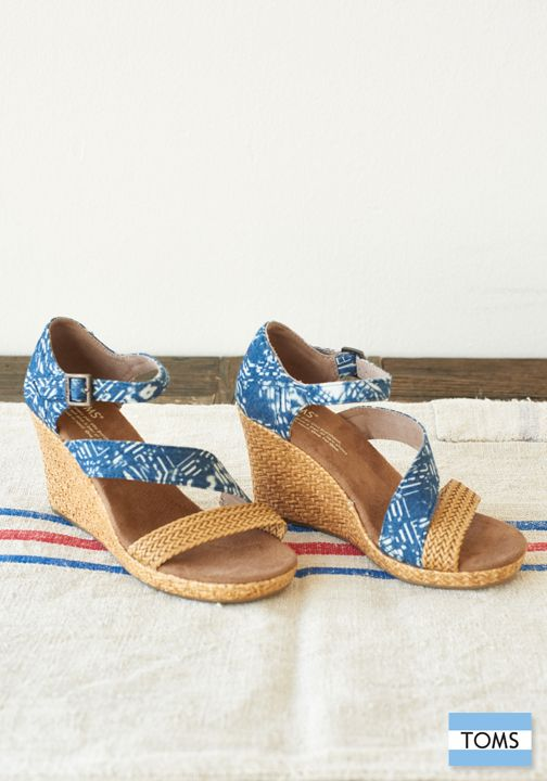 Check out TOMS Clarissa Wedges. They are designed for ...
