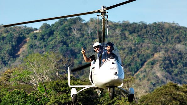 Costa Rica - Bert flies down the coast of the Nicoya Peninsula in his own personal gyrocopter! #TripFlipTv Show