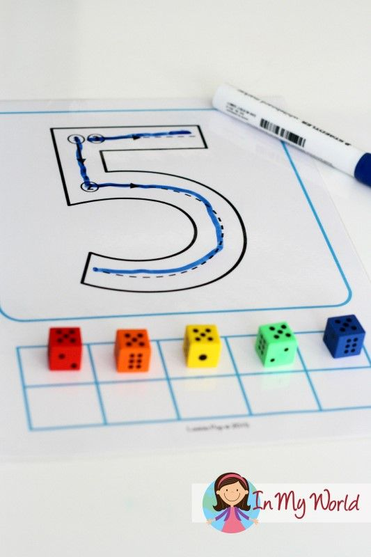 Back to School Preschool and Kindergarten Centers - Number Tracing with correct formation