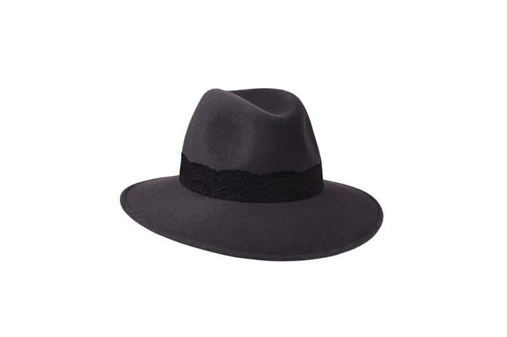 The A/W15 Collection | Willow Fedora | Elephant Grey | Black Lace Band www.penmayne.com #fedora #hats #accessories