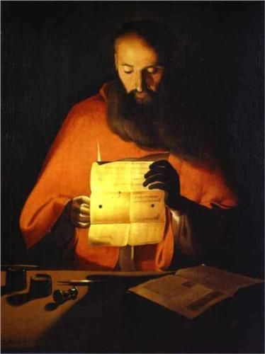 St. Jerome Reading, 1650 - Georges de la Tour (French, 1593- 1652)
