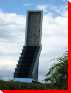 Stairway to Heaven??  Evangeline Beach, Nova Scotia