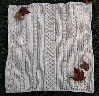 loom knitted aran baby blanket (ravelry free download; must have acct)