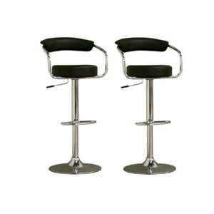 Omicron-Style Adjustable Swivel Bar Stool - Set of 2