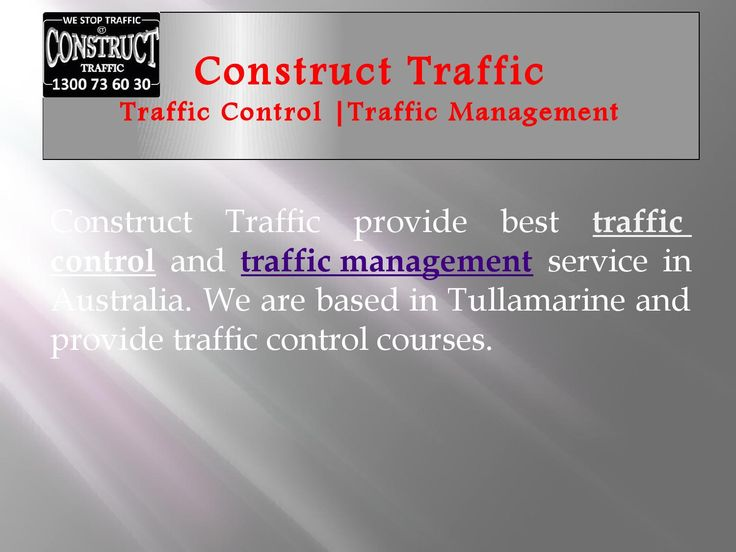 Traffic control and traffic planning provider in australia  Construct Traffic provide traffic related services in Australia like traffic planning, control & management. We also provide traffic control courses. Call us on 1300 73 60 30 for more details.