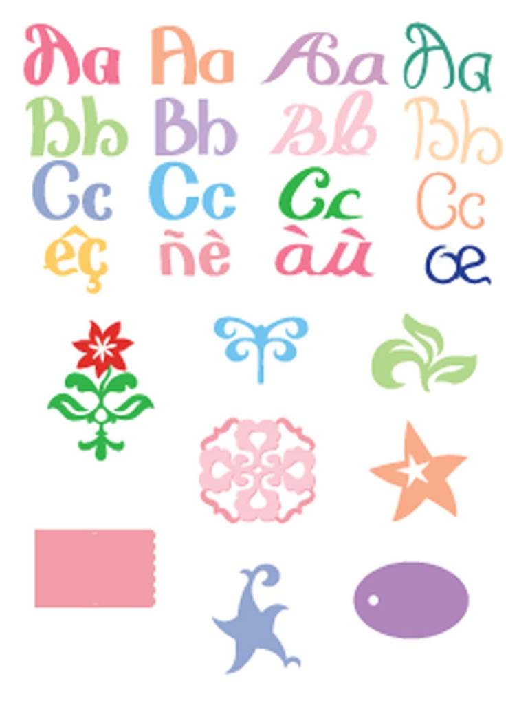 cricut ashlyns alphabet font cartridge