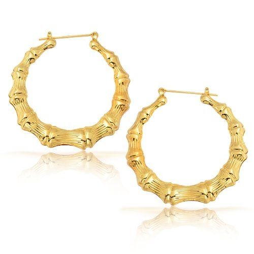 REVEL: Gold Bamboo Hoop earrings