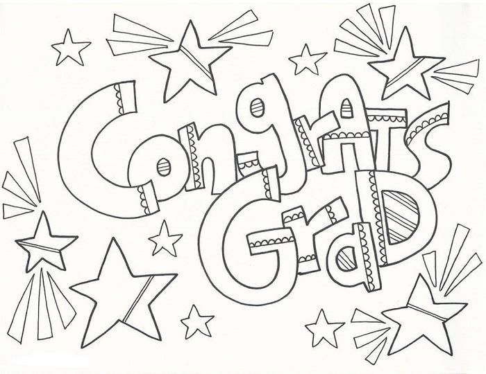 Congratulations For Graduation Coloring Pages Coloring Pages Graduation Crafts Congratulations Graduate