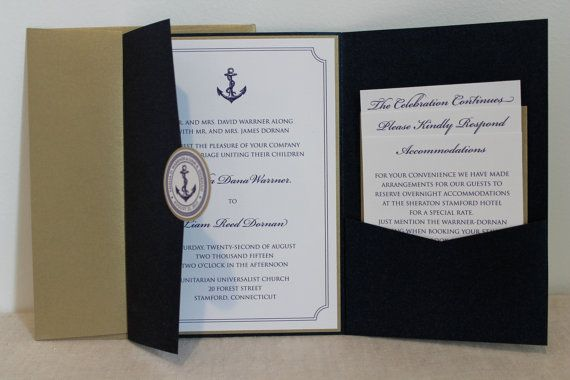 Nautische Thema Hochzeitseinladung
