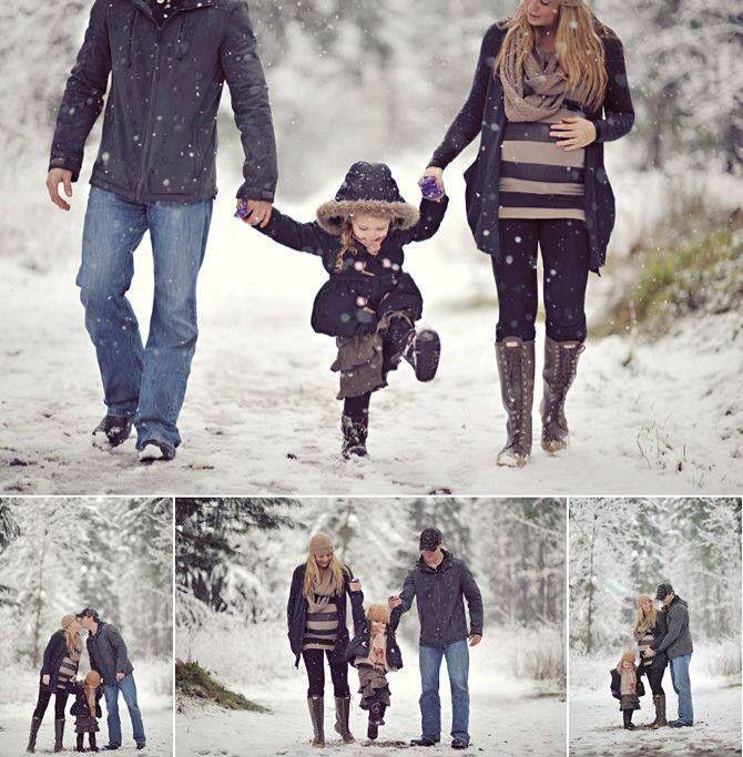 Beautiful winter maternity photos
