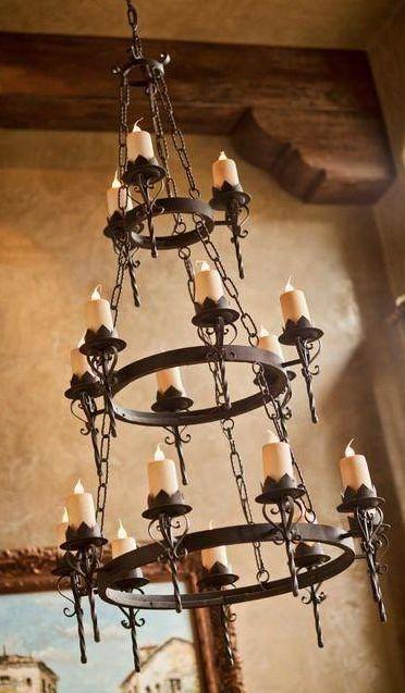 iron chandelier & 196 best Lighting images on Pinterest | Visual comfort ... azcodes.com
