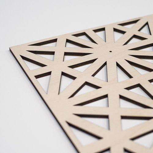 laser cut plywood panel