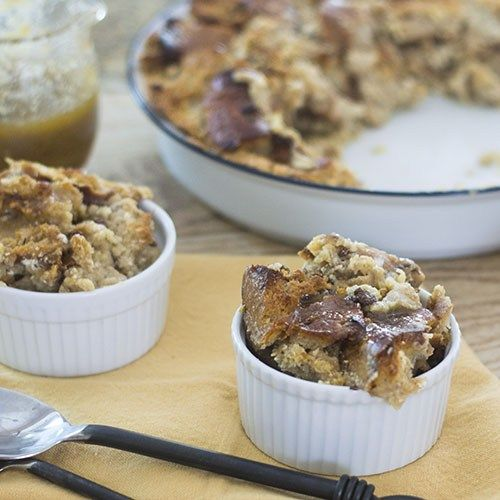 Cinnamon Raisin BAGEL Bread Pudding from Feed Your Soul Too