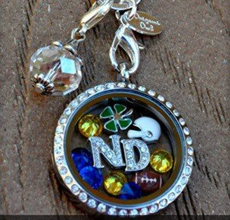 Let's go Notre Dame football!!!  Support your team or college with a locket and great graduation gift for those going off to college  christys.origamiowl.com