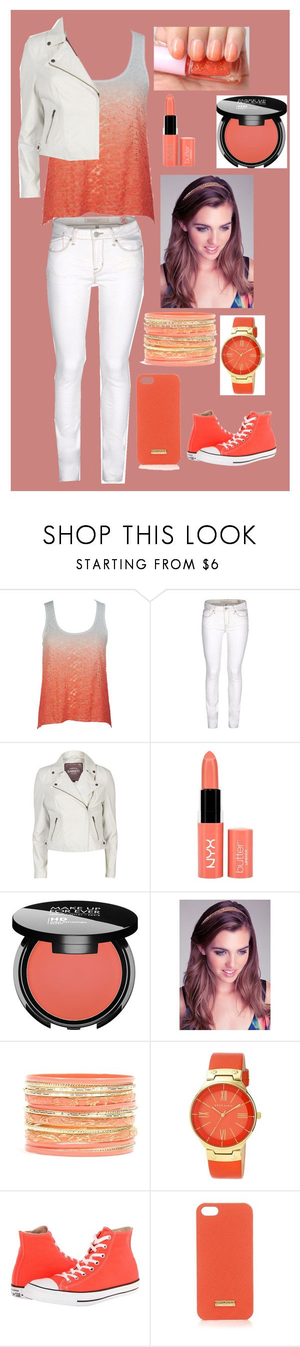 """Untitled #65"" by shusha123 ❤ liked on Polyvore featuring Marc by Marc Jacobs, Barneys New York, Etude House, MAKE UP FOR EVER, Bebe, Anne Klein, Converse and Henri Bendel"