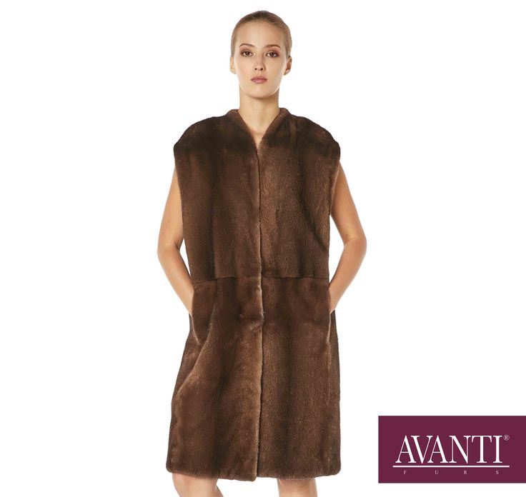 AANTI FURS - MODEL: CELINA MINK VEST with Leather details #avantifurs #fur #fashion #fox #luxury #musthave #мех #шуба #стиль #норка #зима #красота #мода #topfurexperts