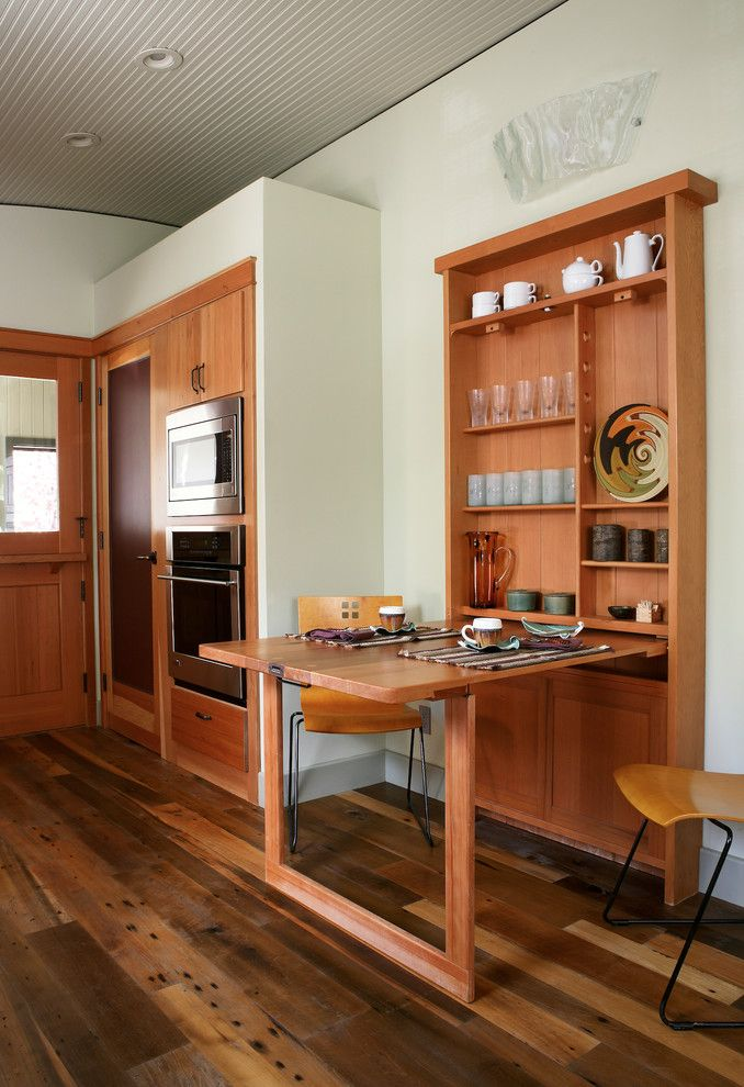 Beautiful Hidden Dining Table Cabinet