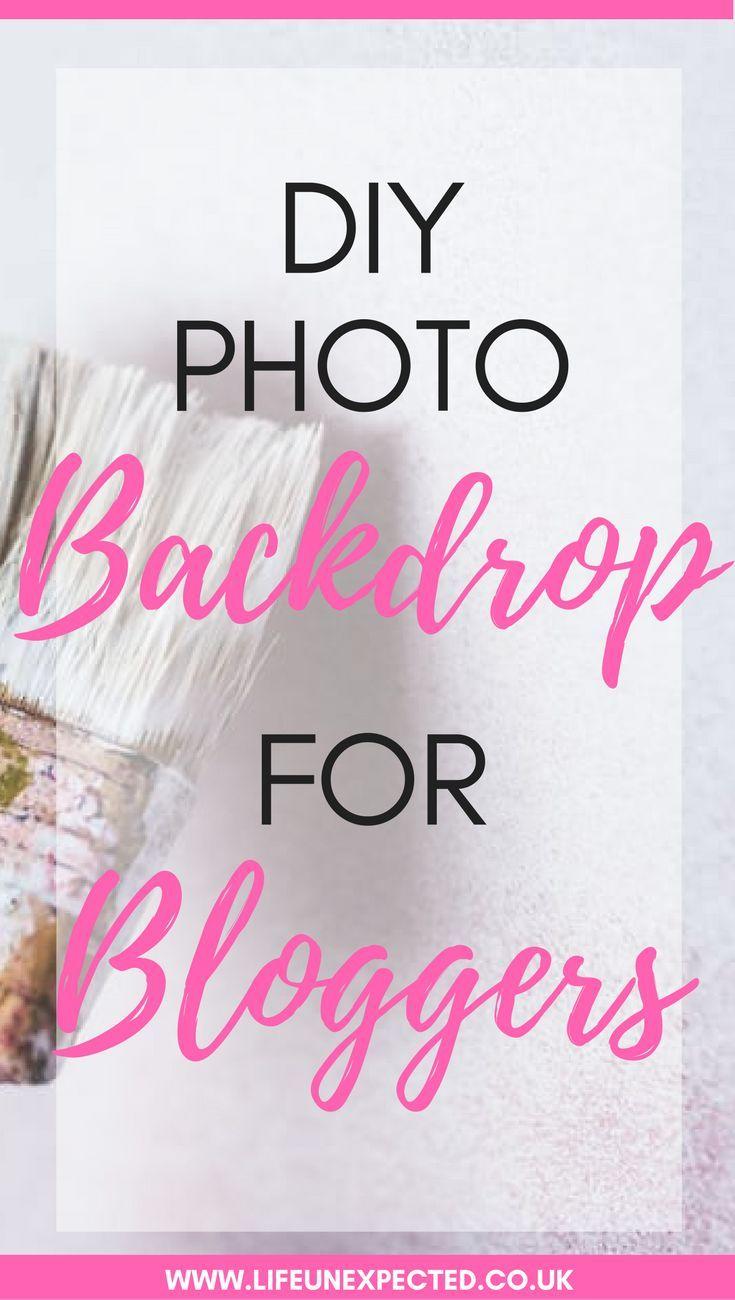 DIY Photo backdrop for bloggers. Make a cheap photo backdrop. Flat lay photo backdrop on a budget.