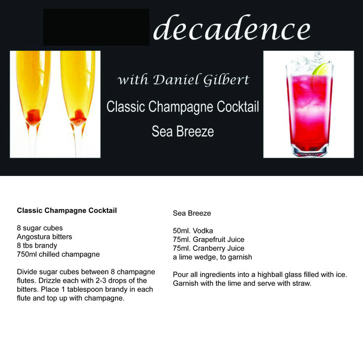 Classic Champagne Cocktail Sea Breeze