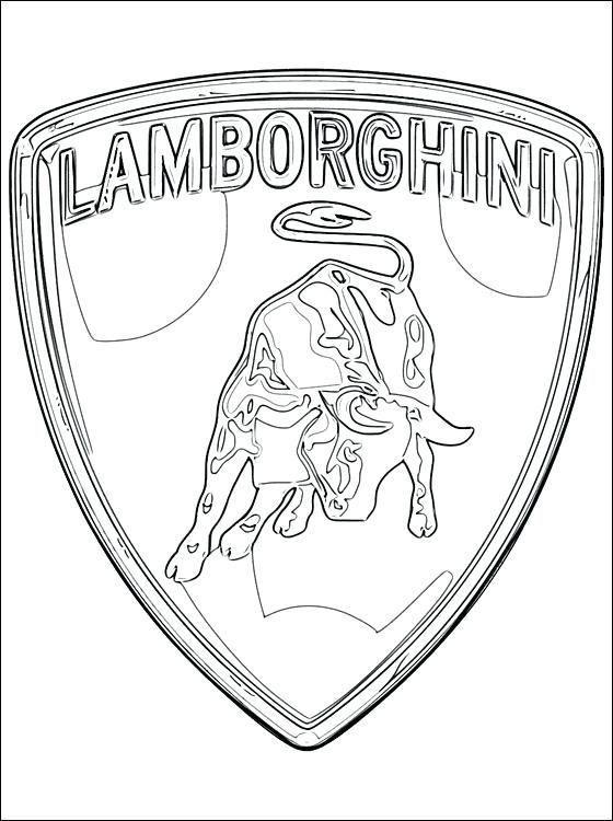 lamborghini kleurplaat logo lamborghini kleurplaaten