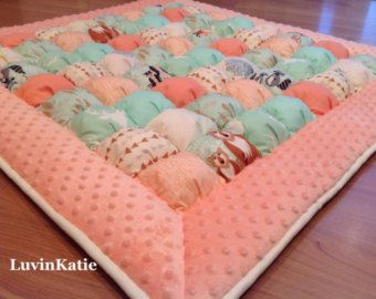 Bubble Quilt Puff Quilt for Baby Floor Time Tummy Time Mat